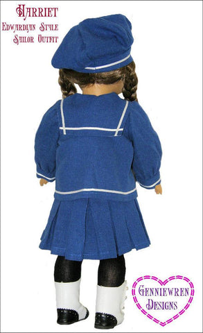 "Harriet - Edwardian Style Sailor Outfit 18"" Doll Clothes Pattern"