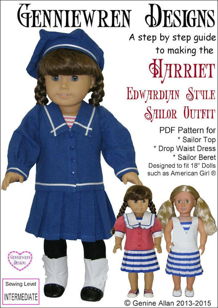 Genniewren Designs Harriet Edwardian Style Sailor Outfit