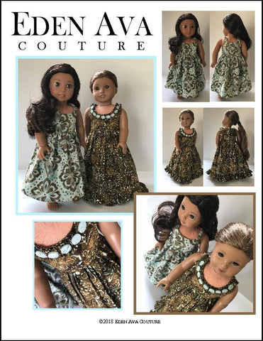 "Hawaiian Sundress 18"" Doll Clothes Pattern"