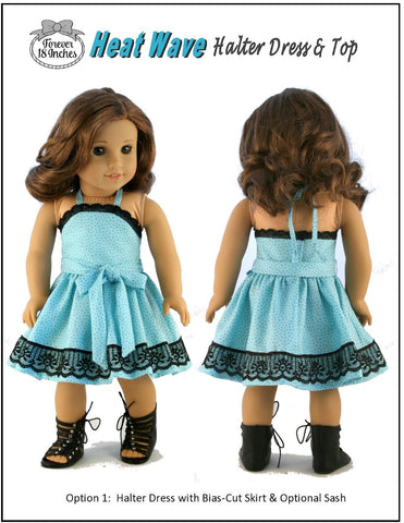 "Heat Wave Halter Dress & Top 18"" Doll Clothes"
