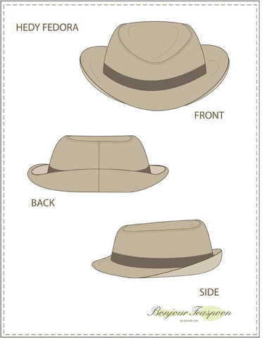 Hedy Fedora Pattern for Kids