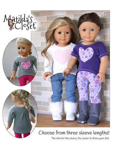 "Here's My Heart Shirt 18"" Doll Clothes"