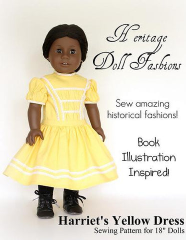 "1864 School Dress 18"" Doll Clothes Pattern"