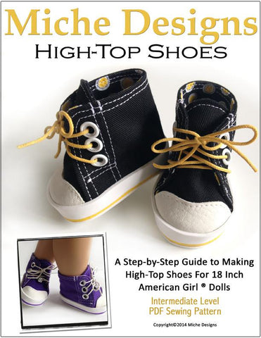 "High Tops 18"" Doll Shoes"