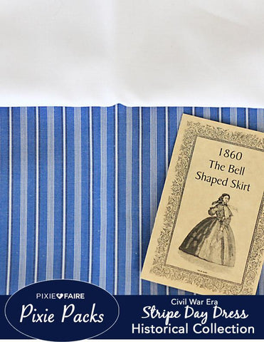 Pixie Packs Historical Collection Civil War Era Dress - Stripe