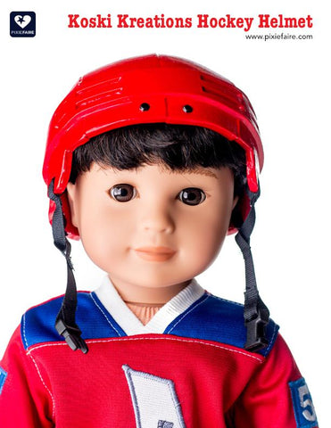 "Hockey Helmet 18"" Doll Accessory Pattern"