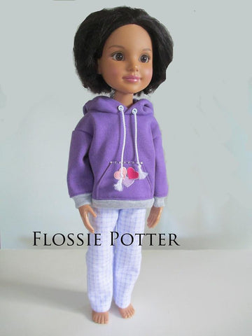 Weekend Wear Hoodie & PJ Pants  for BFC, Ink Dolls