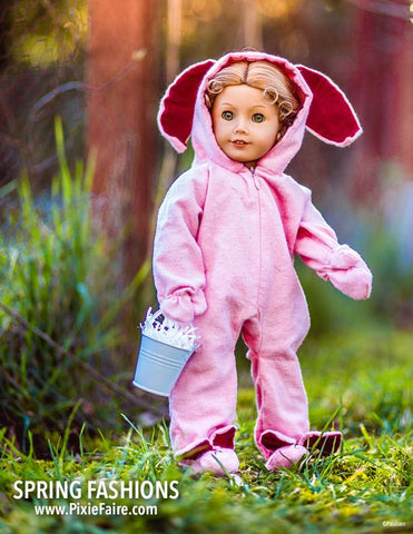 18 Inch Doll Easter Bunny Costume Animal Bodysuit Doll Clothes Pattern