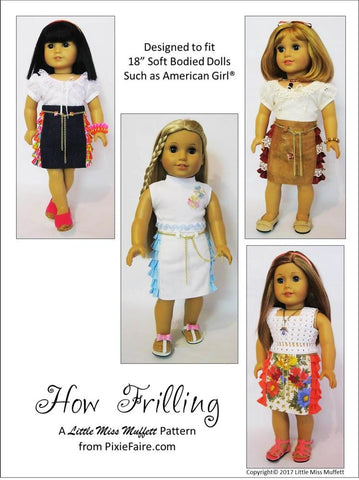 "How Frilling 18"" Doll Clothes Pattern"