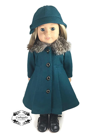 "Classic Coat and Classic Hat Bundle 18"" Doll Clothes Pattern"