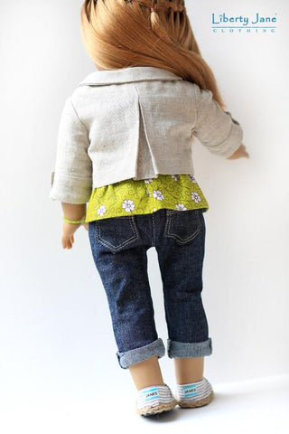 "Penny Lane Jacket 18"" Doll Clothes Pattern"
