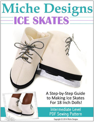 "Ice Skates 18"" Doll Shoes"