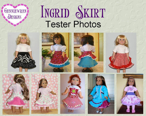 "Ingrid Skirt 18"" Doll Clothes"
