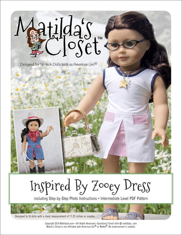 "Inspired By Zooey Dress 18"" Doll Clothes"