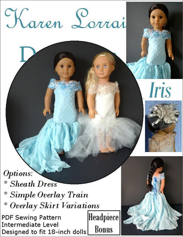 "Iris 18"" Doll Clothes Pattern"