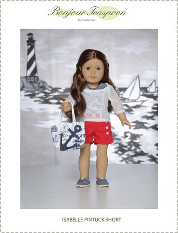 "Isabelle Pintuck Short 18"" Doll Clothes Pattern"