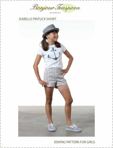 Isabelle Pintuck Short Pattern for Girls