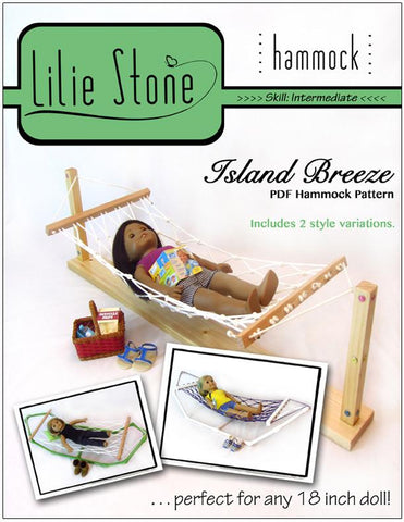 "Island Breeze Hammock 18"" Doll Furniture"