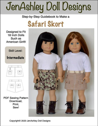 "Safari Skort 18"" Doll Clothes"