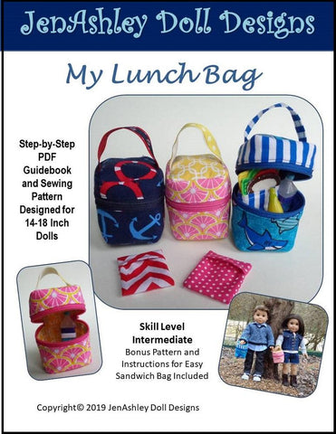"My Lunch Bag 18"" Doll Clothes Pattern"