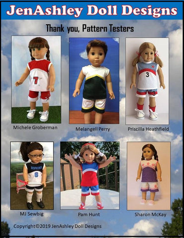 "Fast Break Lacrosse Uniform 18"" Doll Clothes Pattern"