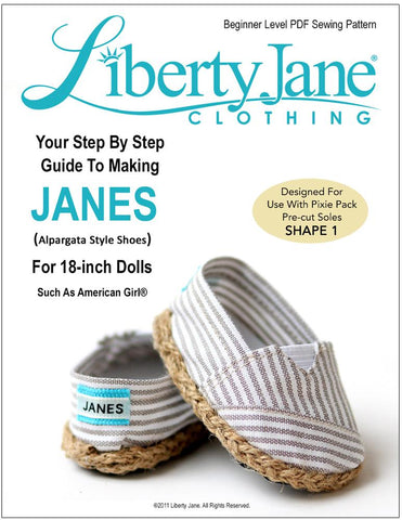 "Liberty Jane Shoes JANES 18"" Doll Shoes Pixie Faire"