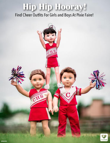 "Boy Cheerleader 18"" Doll Clothes Pattern"