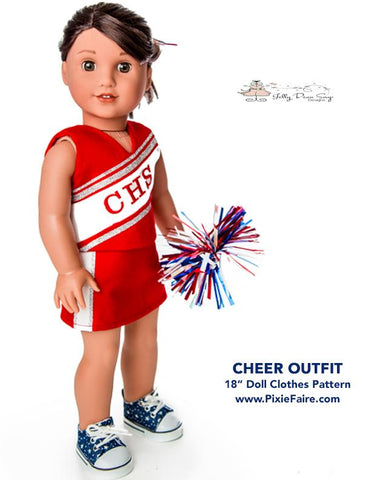 "Cheer Outfit 18"" Doll Clothes Pattern"