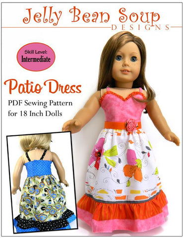 "Patio Dress 18"" Doll Clothes Pattern"