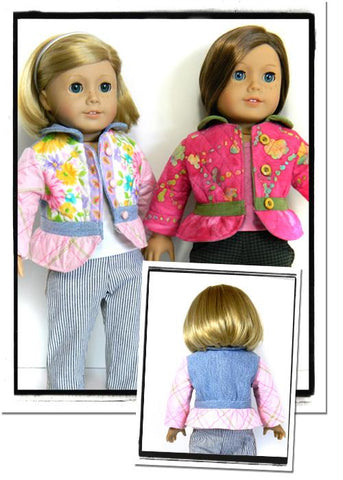 "Cute as a Button Jacket 18"" Doll Clothes"