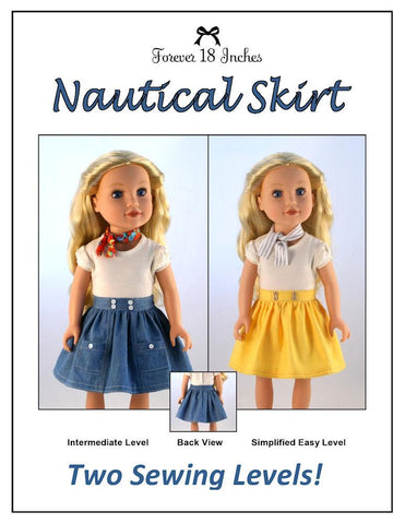 Nautical Skirt for Journey Girls Dolls