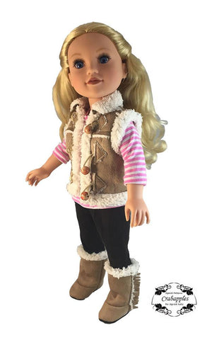 Chilly Morning Vest Pattern for Journey Girls Dolls