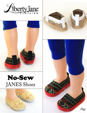 No Sew JANES Shoe Pattern for Journey Girls Dolls
