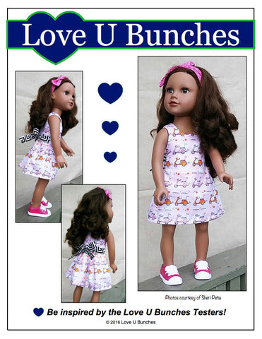 Love U Bunches Journey Girl Polka Dot Party Dress for Journey Girls Dolls Pixie Faire