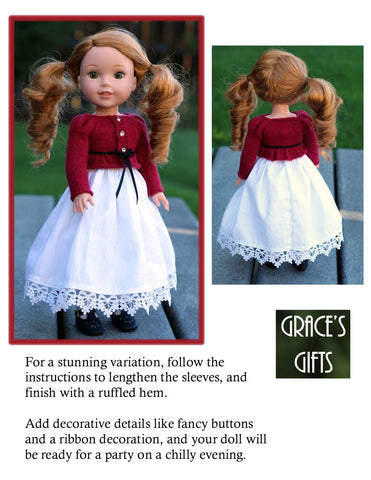 "Just Like Lizzy Knitting Pattern for 14.5"" Dolls"