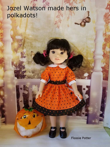 "Joni's Uptown Dress 14.5"" Doll Clothes Pattern"
