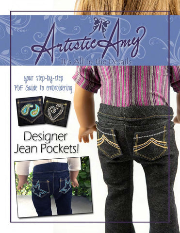 Designer Jean Pockets Machine Embroidery Designs