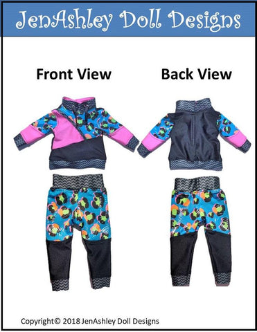 "Wild & Wacky Sweatsuit 18"" Doll Clothes Pattern"