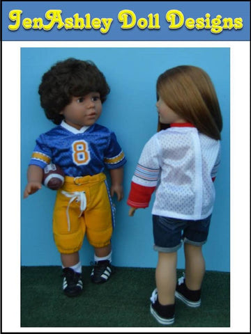 "Relaxed Fit Football Jersey and Shoulder Pads 18"" Doll Clothes"