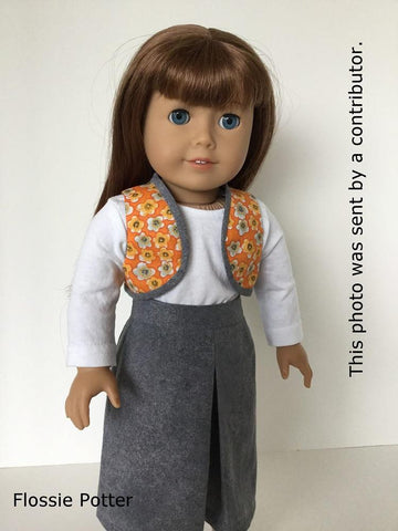"Bolero Vest & Gaucho Skirt 18"" Doll Clothes"