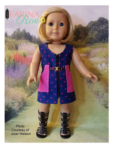 "Deidre Tunic and Vest 18"" Doll Clothes Pattern"