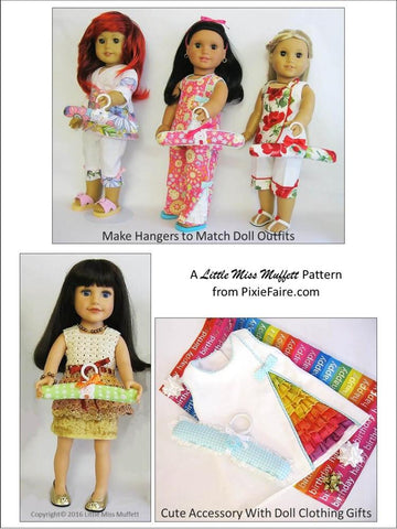 "Just a Little Hanger 16"" to 18"" Doll Accessory Pattern"