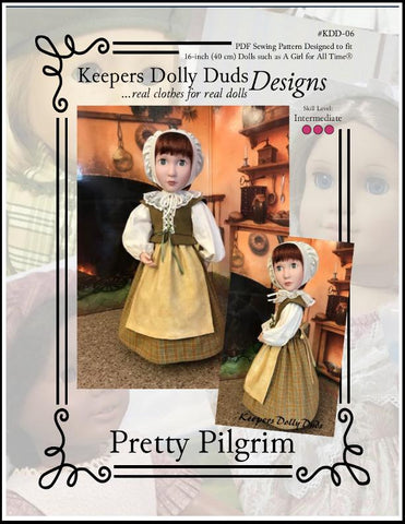 Pretty Pilgrim Pattern For A Girl For All Time Dolls