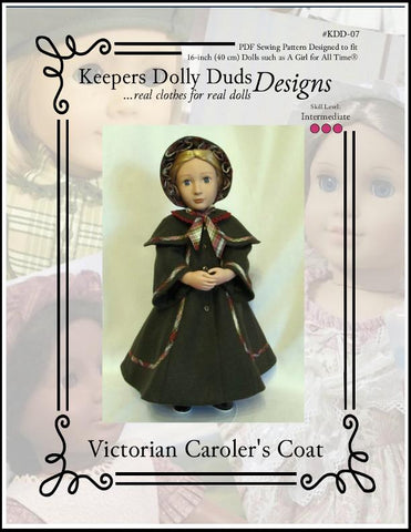 Victorian Caroler's Coat and Bonnet For A Girl For All Time Dolls