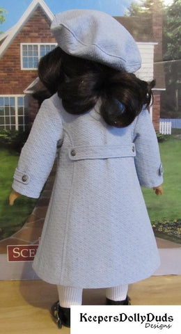 Keepers Dolly Duds Coat Essentials PDF doll clothes sewing pattern designed to fit 18 inch American Girl dolls