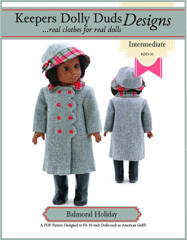 "Balmoral Holiday 18"" Doll Clothes Pattern"