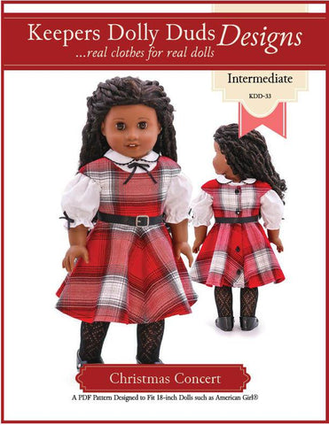 "Christmas Concert 18"" Doll Clothes Pattern"