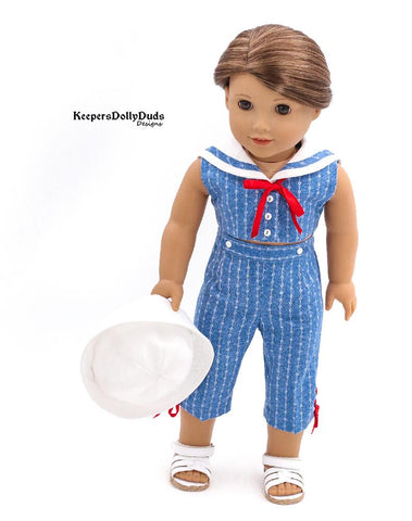 "Setting Sail 18"" Doll Clothes Pattern"