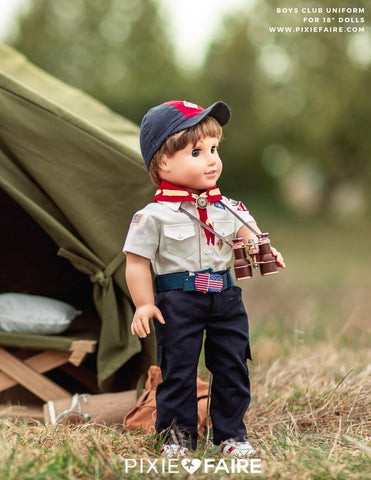 "Boys Club Uniform 18"" Doll Clothes Pattern"