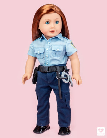 "Law Enforcement Uniform 18"" Doll Clothes Pattern"
